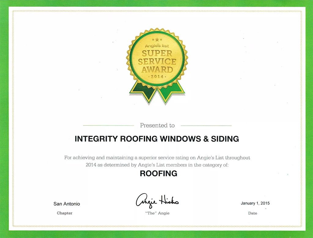 Roofing licensing certified roofer san antonio tx most recent angies list super service awards 1betcityfo Image collections